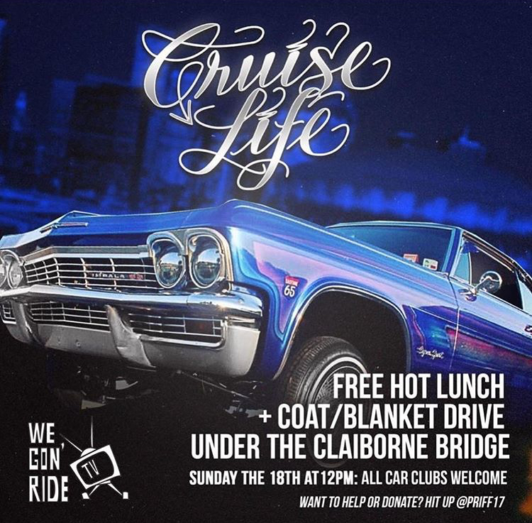 Cruise Life Free Hot Lunch and Coat/Blanket Drive