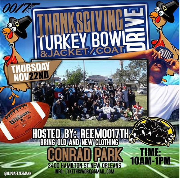 Reem0017th Thanksgiving Turkey Bowl and Jacket/Coat Drive